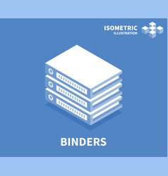 binders icon isometric template for web design vector image