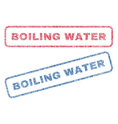 Boiling water textile stamps vector