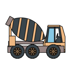 cement truck illsutratio vector image