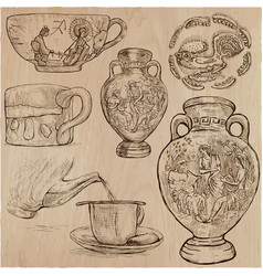 Ceramics - an hand drawn pack freehand sketchiing vector