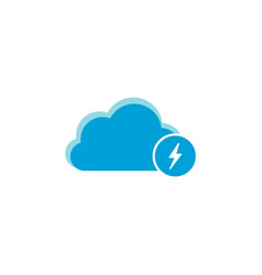 cloud computing icon flash icon vector image