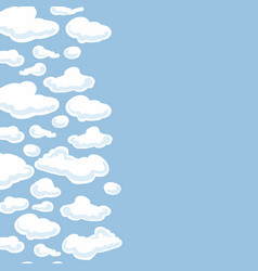 clouds background seamless pattern for your vector image