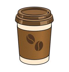 Coffee cup pop art vector