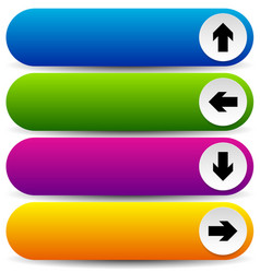Colorful button templates with arrows vector