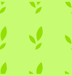 colorful seamless pattern of cute green leaves on vector image