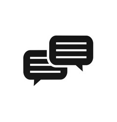 conversation icon graphic design template vector image
