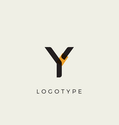 creative letter y for logo and monogram minimal vector image