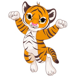 Cute tiger vector