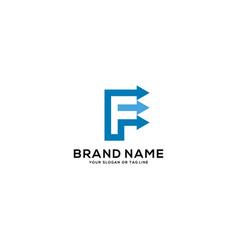 Design logo letter f arrow vector