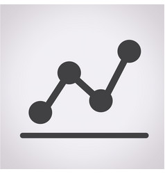 diagram icon graphs icon vector image