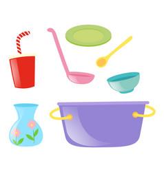 different kind of kitchen utensils vector image