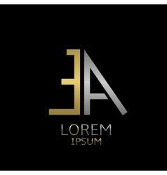 Ea letters logo vector
