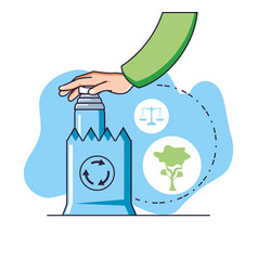 Factory and sustainability design vector