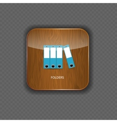 Folders wood application icons vector image