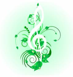 grunge musical note vector image