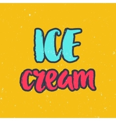 Hand drawn lettering summer theme vector image