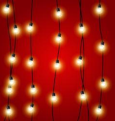 Hanging vertical Christmas Lights garlands vector