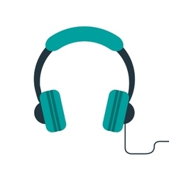 Headphones music listen mobile vector