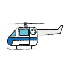 Helicopter ambulance icon vector