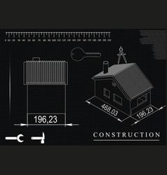House drawing on a black background vector