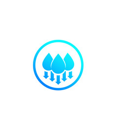 Humidity water level down icon vector