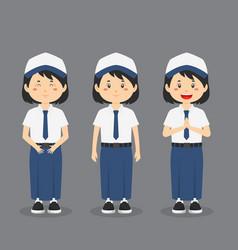 Indonesian junior high school character vector
