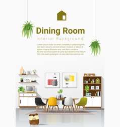 interior background with modern dining room vector image