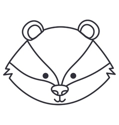 Isolated skunk cartoon design vector