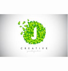 J green leaf logo design eco logo with multiple vector