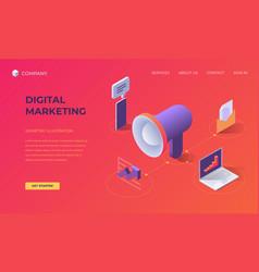 landing page for digital marketing vector image
