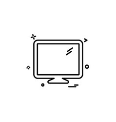 lcd screen icon design vector image