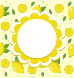 lemon label wrapper template for your design vector image