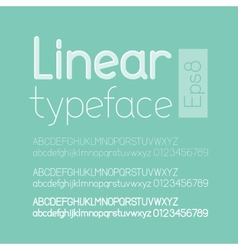 Linear letters and numbers vector image