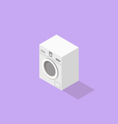 Low poly isometric washer vector