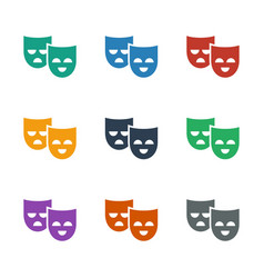Mask icon white background vector