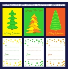 Merry Christmas Printable cards vector