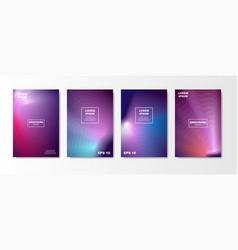 minimal liquid cover design set future poster vector image