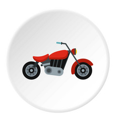 Motorcycle icon circle vector