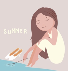 my lovely summer vector image