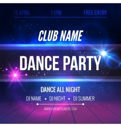 Night Dance Party Poster Background Template vector image vector image