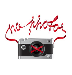No photos fashion print with camera vector