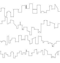 outline of city skyline seamless vector image