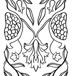 pattern with pomegranates vector image
