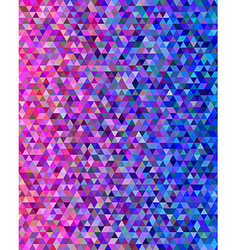 Pink and blue abstract triangle pattern vector image