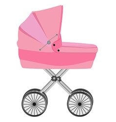 pink bacarriage vector image