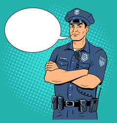 Policeman pop art vector