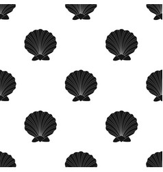 Prehistoric seashell icon in black style isolated vector