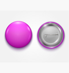 realistic pink blank badge vector image