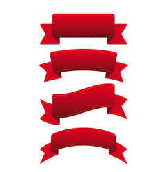 Red ribbon set vector