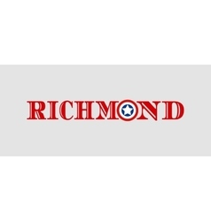 Richmond city name with flag colors vector image vector image